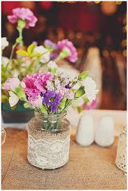 wedding flowers jam jars 40 hessian wedding ideas