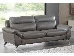 canapé cuir gris anthracite canapé cuir ub design amarok 2 places fixe cuir gris foncé pas