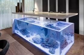 cuisine design ilot central plan de travail ilot central aquarium jpg fév 2016 cuisines et