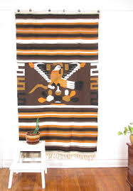 Hanging Rugs On A Wall Vintage Mexican Blanket Rug Woven Wall Hanging Textile Large