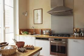 cuisine blanche et plan de travail bois quelle couleur de credence pour cuisine blanche plan de travail