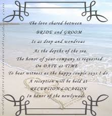 Christian Wedding Cards Wordings Lake Funny Beach Wedding Invitations 10 Examples Of Beach Wedding