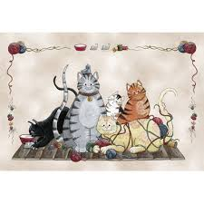 Cat Area Rugs Custom Printed Rugs Home Accents Granny U0027s Cats Area Rug U0026 Reviews