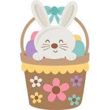 easter basket bunny silhouette design store view design 123374 bunny in easter basket