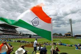 Cricket Flags England Vs India Cricket International Waca January 30 2015