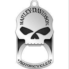 harley davidson willie g skull bottle opener tag necklace