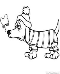 winter hat coloring pages dog color pages printable do not appear when printed only