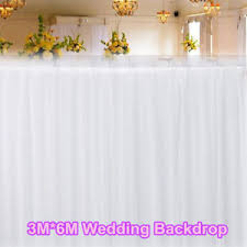 wedding event backdrop 3x6m white satin wedding stage event backdrop decorations