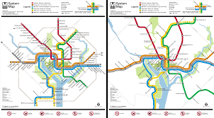 Dc Metro Rail Map washington metro map to scale on behance