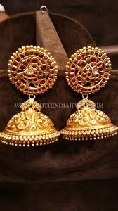 gold earrings for marriage 330 best earrings collections images on south india
