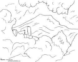Coloriage  Montagne SainteVictoire par Paul Cézanne  Coloriages à