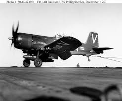 bureau corsair vought f4u 4b corsair fighter bureau 62924 landing on uss