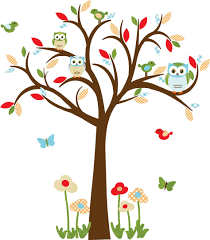 Children Wall Decals Owl Decal Nursery Decal Childrens Wall Decal Owl Tree Wall