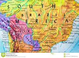 Brazil On South America Map by South America Globe Map Close Up Stock Photo Image 41628600