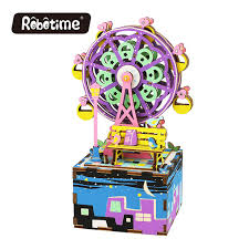 free shipping robotime 3d puzzle diy cool mechanism gift wooden
