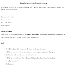 Sample Resume For Retail Assistant by Dental Assistant Resume Examples No Experience Resume Format 2017