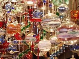 beautiful glass baubles photo