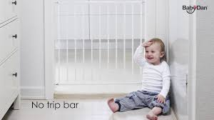 Child Stair Gates Argos by Babydan No Trip Metal Safety Gate Youtube
