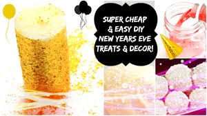 New Years Eve Decorating Party Ideas by Diy New Years Eve 2016 Party Ideas Treats Drinks U0026 Decor Nye