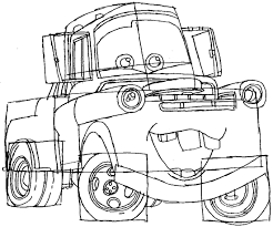 how to draw tow mater from disney cars movie how to draw step by