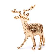 miniature gold metallic deer ornaments miniatures