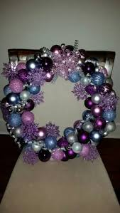 ornament wreath silver purple ornament wreath