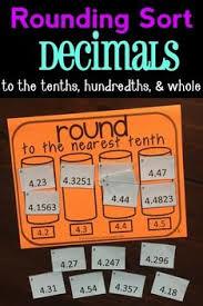 rounding decimals sort great game to practice rounding decimals