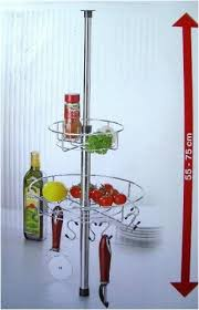 rondale etagère télescopique de cuisine avec corbeilles et avec