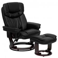 Black Leather Recliner Leather Reclining Chair And Ottoman Foter