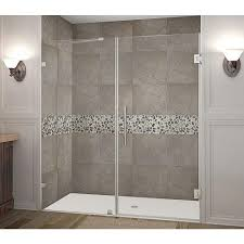 Manhattan Shower Doors by Vigo 60 In X 74 In Frameless Bypass Shower Door In Stainless