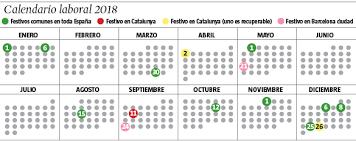 Calendario Diciembre 2018 Calendario Laboral 2018 Todos Los Días Festivos