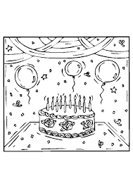 Coloriage gâteau danniversaire