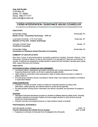Residential Counselor Resume Resume Mental Health Counselor Resume