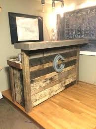 Reclaimed Wood Bar Cabinet Small Wood Bar Reclaimed Wood Bar Small Made From Pallets For Sale