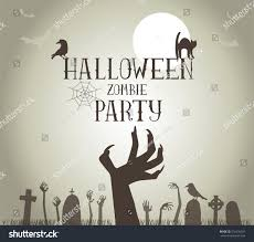 halloween menu moving background halloween zombie party poster vector format stock vector 316436501
