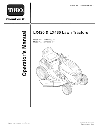 toro lawn mower 13ax60rh744 user guide manualsonline com
