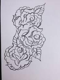three roses outlines design fresh 2016 tattoos ideas
