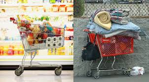 on shopping carts thanksgiving and homelessness invisible