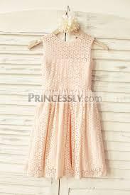 blush pink lace flower dress
