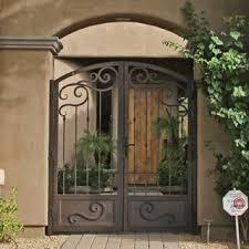 Aluminum Exterior Door Pretty Looking Metal Security Front Door Gates Doors