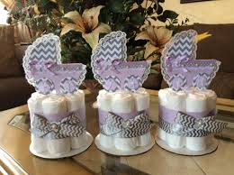 lavender baby shower decorations lavender and grey chevron baby shower centerpieces girl baby