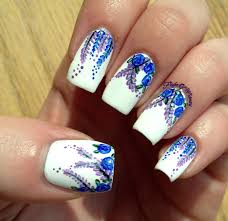 piggieluv blue roses for autism winter blues blue roses nail art