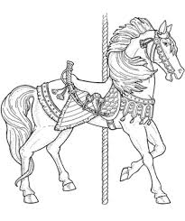 free coloring carousel animals coloring book download free