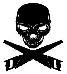 skull and cross saws stock illustration illustration of grunge