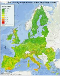 Map Of The Europe by New Map Of Soil Loss By Water Erosion Across Europe