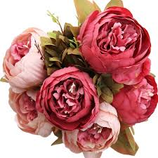 Artificial Flowers Home Decor by Artificial Wedding Party Decor Bridal Bouquet Peony Silk Flowers