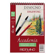 accademia 200gsm spiral bound drawing pad 30 sheets sketching