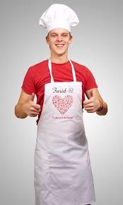 tablier cuisine homme personnalisé tablier de cuisine personnalisable à votre choix pour femme ou