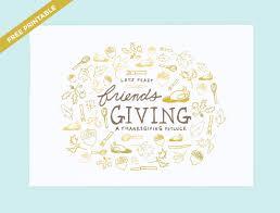 feast friendsgiving invitation printable