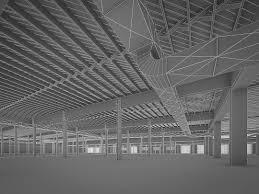 3d model art deco industrial building interior vr ar low poly max